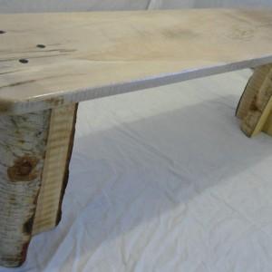 Birch Bark Bench