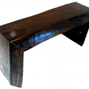 Espresso slab bench