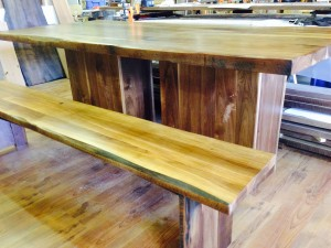Black Walnut Table and Bench